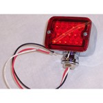 Mini Led Tail Light, Red, Dual Function, Each
