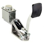Single Brake Pedal Kit, 3/4   Master Cylinder, Polished