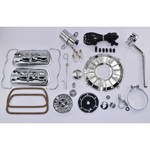 Super Color & Chrome Dress Up Kit, Grey, For Aircooled VW