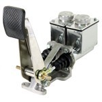 Single Brake Pedal, Dual 7/8 Bore Tall Master Cylinders