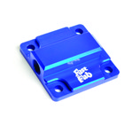 Billet Oil Pump Cover, With Full Flow Outlet Hole, Blue