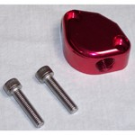 Fuel Pump Block Off With Vent, Red