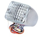 Micro Led Tail Light, Clear/Red, Sold Each