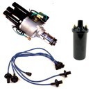 Ripper Jr. Ignition Kit, With Points Style Distributor, Blue