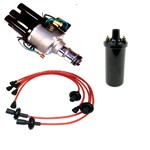Ripper Jr. Ignition Kit, With Points Style Distributor, Red
