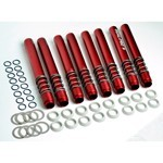 Push Rod Tubes, Seal Pro Spring Loaded, Red, 8 Pieces