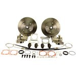 Disc Brake Kit, 5 On 4-3/4 Chevy, With E-Brake Short Spline