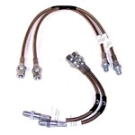 BRAIDED BRAKE LINE KIT, Fits Beetle 68-79, 4 Piece