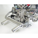 2 Tip Exhaust, For Type 1 VW Engines, Ceramic Coated