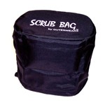 "Storage Bag, 4.5"" X 7"" Oval, 6"" Tall, Black"