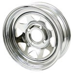 "15 X 8"" Steel Rim, Series 27, 4 On 130mm, 2"" Backspacing"