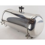 Stainless Steel Fuel Tank, 10 x 24 7.5 Gallon, Center Fill
