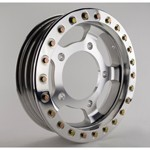 "15 X 4"" Forged Beadlock Rim, 5 On 205mm, Polished Beadlock"