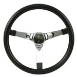 "Steering Wheel, 14-3/4"" Diameter, 4"" Dish, 3 Spoke, 3 Bolt"