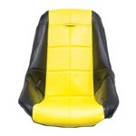 LOW BACK POLY SEAT COVER, YELLOW