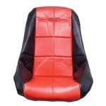 Low Back Poly Seat Cover, Red