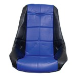 Low Back Poly Seat Cover, Blue