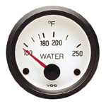 2-1/16 Water Temp Gauge, Cockpit White Series, 250 Degrees