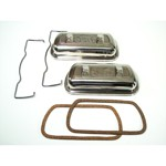 Valve Cover, Stainless Clip On With 5 Tab Gasket Retainer