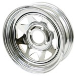 "15 X 7"" Steel Rim, Series 27, 4 On 130mm, 3-1/2"" Backspacing"