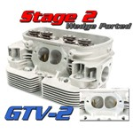Gtv-2 Cnc VW Heads, 92mm Stage 2 Port Job, Dual Spring, Pair