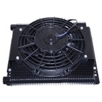 Oil Cooler Element, 96 Plate Mesa Style, With Electric Fan