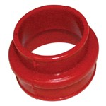 Dual Port Intake Boot, Red Urethane for Type 1 VW, Each