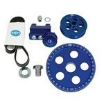 Serpentine Belt Pulley System, Blue Anodized, For Type 1 VW
