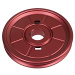 Stock Crank Pulley,  Aluminum Stock Look VW Pulley, Red