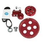 Serpentine Belt Pulley System, Red Anodized, For Type 1 VW
