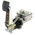 """Dual Master Brake Pedal, 3/4"""" Masters, Low Reservoirs"""
