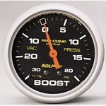 "2-5/8"" Pro-Comp Boost Gauge, Liquid Filled"