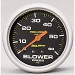 "2-5/8"" Pro-Comp, Blower Pressure Gauge, Liquid Filled"