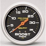 "2-5/8"" Pro-Comp, Boost Pressure Gauge, Liquid Filled"