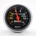 "2-1/16"" Sport-Comp, Boost Pressure Gauge, 20 PSI"