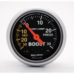 "2-1/16"" Sport-Comp, Boost Pressure Gauge 30 PSI"