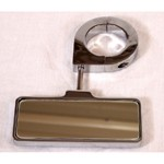 "Rear View Mirror, Billet Clamp On Style, For 1-3/4"" Tube"