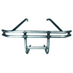 REAR BUMPER, Double Tube Fire Wall Mount, Raw Steel