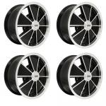 "Brm Wheels Black With Polished Lip, 5"" Wide, 5 on 205mm VW"