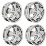 "911 Alloy Wheels All Chrome, 4.5"" Wide, 5 on 130mm"