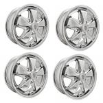 "911 Alloy Wheels All Chrome, 5.5"" Wide, 5 on 130mm"