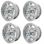"5 Rib Wheels All Chrome, 5.5"" Wide, Fits 5 on 205mm VW"