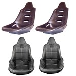 High Back Poly Seat Shells, With Black Covers