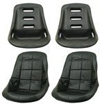 Low Back Poly Seat Shells, With Black Seat Cover
