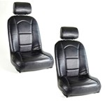 Slim Off-Road Suspension Seats Black Vinyl With Black Vinyl