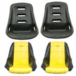 Low Back Poly Seat Shells, With Black & Yellow Seat Cover