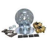 Disc Brake Kit, 5 On 4-3/4 Chevy For Ball Joint 68-79 VENTED