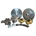 Drop Spindle Disc Brake Kit, 4 On 130mm For Ball Joint 66-77