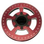 JayCee Billet 6 Inch Street Pulley, Red