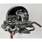 """Side-Exit Exhaust, 1-5/8"""" With Side Stinger, Ceramic Coated"""